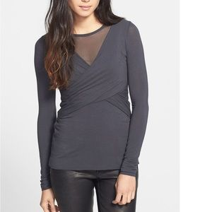 "BAILEY 44 ""Celestial Body"" Mesh Faux Wrap Top"